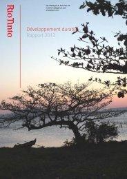 Rapport de Développement Durable 2012 - Rio Tinto - Qit ...