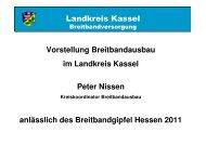 Breitbandausbau im Landkreis Kassel - Breitband in Hessen