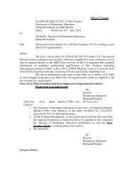 Most Urgent - Government of Himachal Pradesh