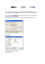 Instruktion för inkoppling av Dilog PVR-550 till dator
