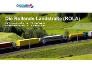 Die Rollende Landstraße (ROLA) Kurzinfo 1-7/2012 - Transporteure