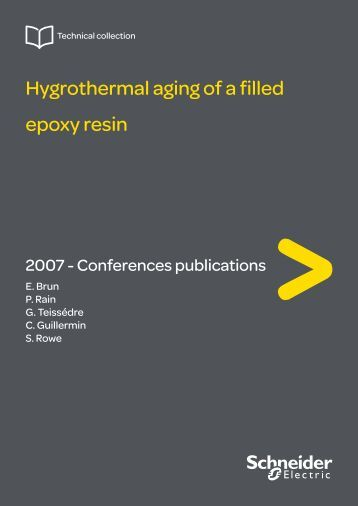 Hygrothermal aging of a filled epoxy resin - Schneider Electric