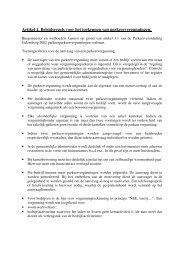 Artikel 1. Beleidsregels voor het toekennen van ... - P1