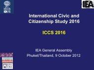 International Civic and Citizenship Study 2016 ICCS 2016 - IEA