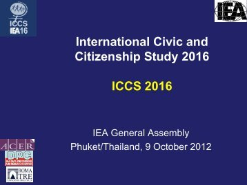 International Civic and Citizenship Study 2016 ICCS 2016 - IEA