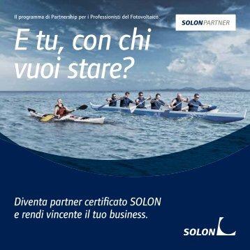 Diventa partner certificato SOLON e rendi vincente il tuo business.