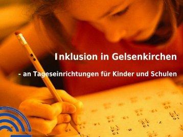 Vortrag Stadt Gelsenkirchen - Regionale Bildungsnetzwerke
