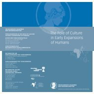 The Role of Culture in Early Expansions of Humans - roceeh ...