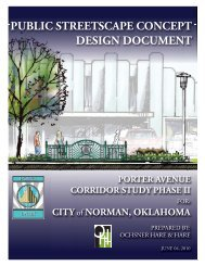Porter Public Streetscape Concept Document 06.04 ... - City of Norman