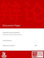 Discussion Paper - The Centre for Chinese Studies