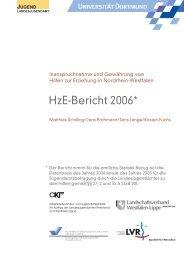 HzE-Bericht 2006* - Landschaftsverband Rheinland