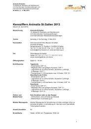 Kennziffern Animalia St.Gallen 2013 - Olma