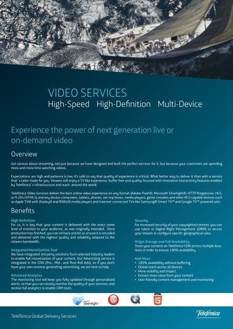 VIDEO SERVICES - Wowza