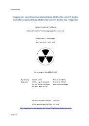Umgang mit umschlossenen radioaktiven Stoffen bis zum 106 ...
