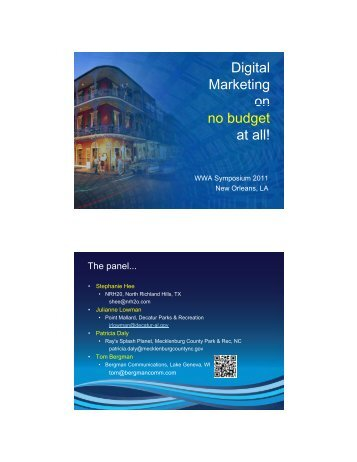 Digital Marketing on no budget at all!