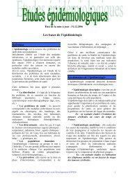 Les bases de l'épidémiologie - Isped