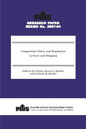 RESEARCH PAPER SERIES No. 2007-04 - Philippine Institute for ...