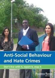 Anti-Social Behaviour and Hate Crimes - Hounslow Homes