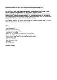 Datenschutzerklärung der Firma Fritz Rudolf Künker GmbH & Co ...