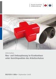 BGI/GUV-I 8681 - Neu- und Umbauplanung im ... - Unfallkasse NRW