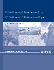 FY 2003 Annual Performance Plan FY 2001 Annual ... - USGS