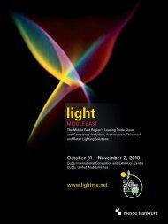 October 31 – November 2, 2010 www.lightme.net - Light Middle East