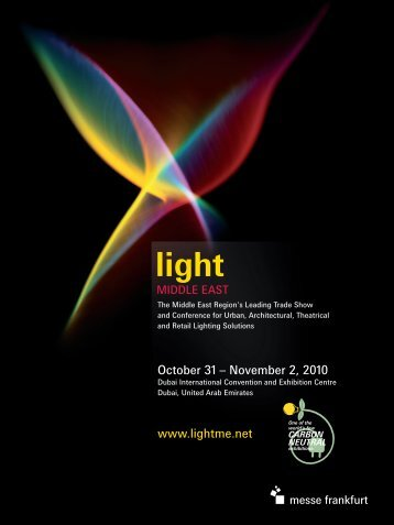 October 31 – November 2, 2010 www.lightme.net - Light Middle East