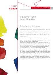 Die Technologie der Canon IPF Drucker - Canon Deutschland