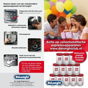 Actie op volautomatische espressoapparaten www ... - Wehkamp.nl
