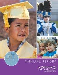 Annual Report 2005-06 - JEFFCO Public Schools