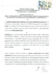 Contratto - Ospedale San Carlo Borromeo