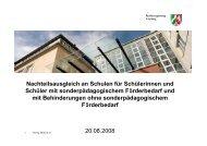 Nachteilsausgleich an Schulen - Tourette-Gesellschaft Deutschland