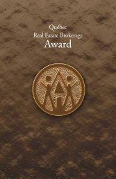 Québec Real Estate Brokerage Award - oaciq