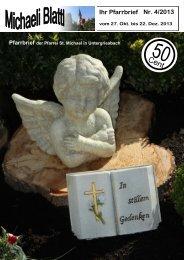 Nr. 4/2013 Ihr Pfarrbrief - Pfarrei Untergriesbach