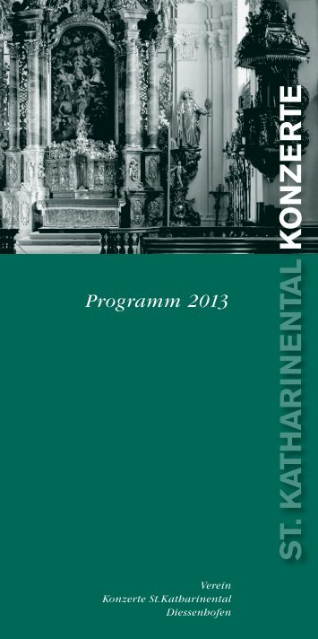 Konzertprogramm 2013