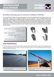 Dépliant branche EnvironnementPDF, 710,06 kB - Welser Profile AG