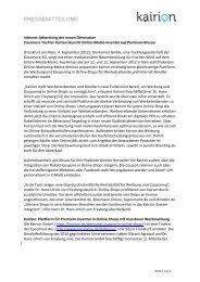2012-09-05 Cocomore Tochter Kairion launcht Online