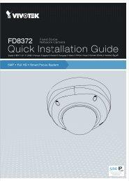 Vivotek FD8372 Installation Guide - Use-IP