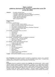 Zápis z jednání platformy obchodu - Svaz obchodu a cestovního ...