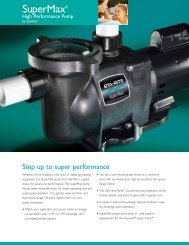 SuperMax High Performance Pump - Pentair
