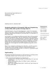 Manglende godkendelse af årsregnskab 2006 samt - Kulturstyrelsen