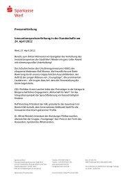 Pressemitteilung - Sparkasse Werl