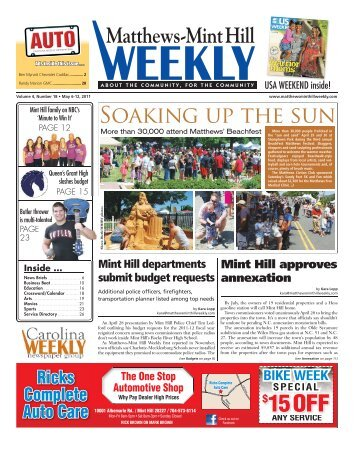15 OFF - Carolina Weekly Newspapers