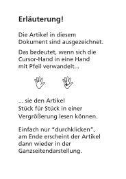 Blickkontakt 1/2011 barrierefrei - Christoffel-Blindenmission