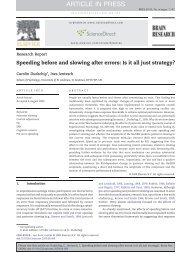 Speeding before and slowing after errors - University of St Andrews