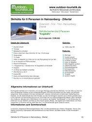 Skihütte für 6 Personen in Hainzenberg - Zillertal - Outdoor-Touristik