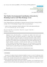 The Positive Environmental Contribution of Jarosite by Retaining ...