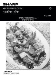 R-231F Operation-Manual GB - Sharp
