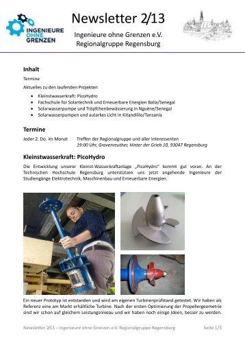 Newsletter 2/13 - Ingenieure Ohne Grenzen eV