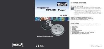 Tragbarer MP3/CD - Player - Medion